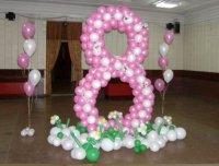 Воздушные шарики отлично украсят праздник 8 марта